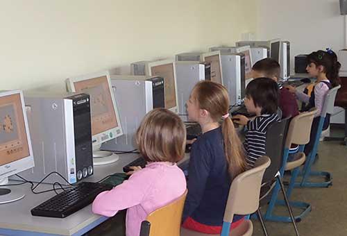 Der Computerraum der Grundschule Edendorf