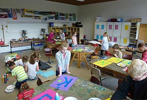 Der Werkraum der Grundschule Edendorf